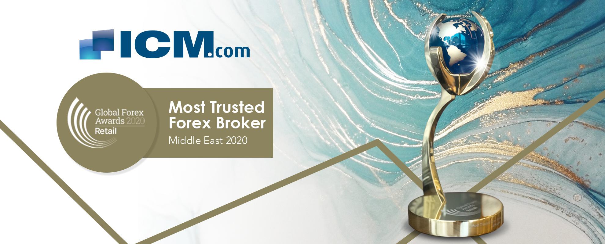 """ICM.com被授予""""2020年中东最值得信赖外汇经纪商""""称号"""