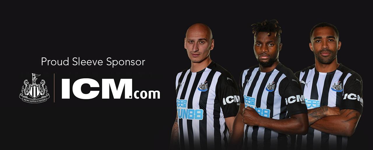 ICM.com宣布成爲紐卡斯爾聯足球俱樂部衣袖贊助商